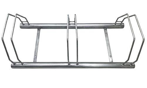 Namor© Fahrrad Bügelparker 1000mm | Edelstahl Rostfrei | Fahrradständer | Edelstahl | 3 Plätze Namor©