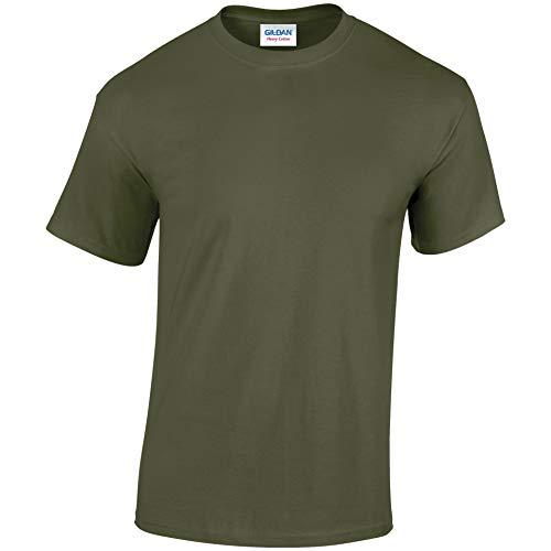 Gildan 5000B T-shirt en coton épais pour enfant -  Vert - Military Green - moyen