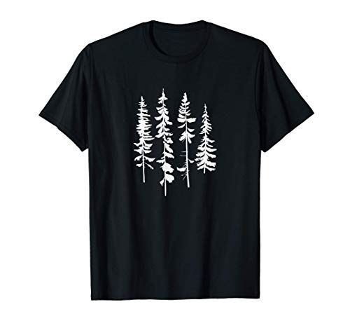 Skinny Pine Trees, Pine Tree Graphic Tee for Nature Lover T-Shirt