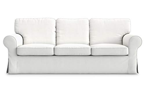 TLY Cotton Ektorp 3 Seat Sofa Cover Slipcover Replacement Made for The IKEA Ektorp 3 Seat Sofa Cover(Cotton White)-Does NOT fit Ektorp 3.5-seat Sofa