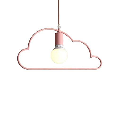 YXDEW Araña LED Moderna, Lámpara de Techo de Hierro Forjado Simple Nube Blossoming Restaurante/Bar/Cafetería/Dormitorio Lámpara Personalidad Interior Iluminación Restaurante (Color : Pink)