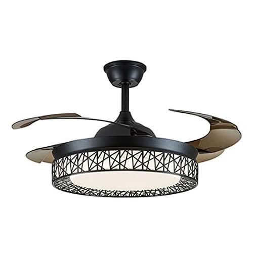 Ventilador de techo de tres hojas, fuente de luz de conmutación de tres velocidades, frecuencia de conversión hacia adelante y hacia atrás, luz de ventilador invisible