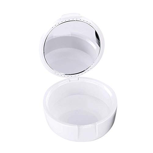 Denture Box, Denture Cup, Dental Orthodontic Retainer Case with Vent Hole Mouth Guard Night Gum Retainer Container…