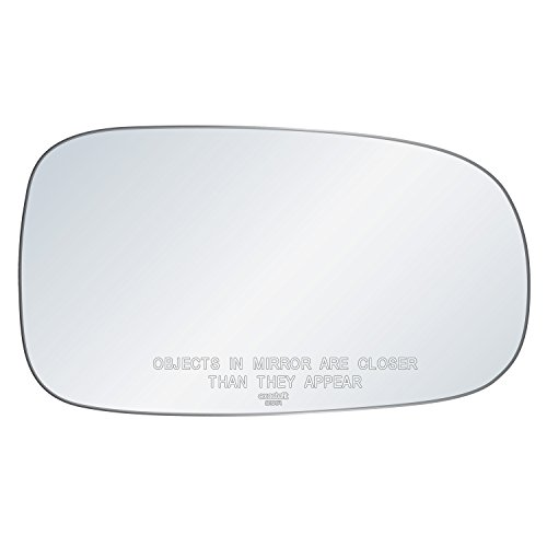 Price comparison product image exactafit 8191R Replacement Side Mirror Glass Lens fits Passenger's Right Hand RH for Saab 95 9-5 9-3 93 by Rugged TUFF