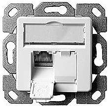 Telegärtner AMJ45 8/8 Up/50 - Enchufe para transmisión de datos (cat. 6), color blanco