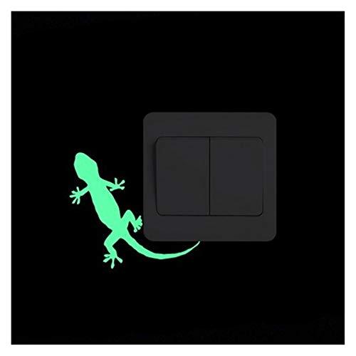 YHDZ Pegatina de Pared Interruptor Luminoso Etiqueta engomada del noctámbulo Luminosa Estrella de la Luna Etiqueta Decoración Hogar Decoración hogareña (Color : 028 Gecko)
