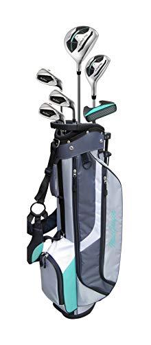 MacGregor Conjunto de Medio Juego de Golf y Bolsa para Palos de Golf CG3000 para Mujer, Color Plateado, para Mano Derecha