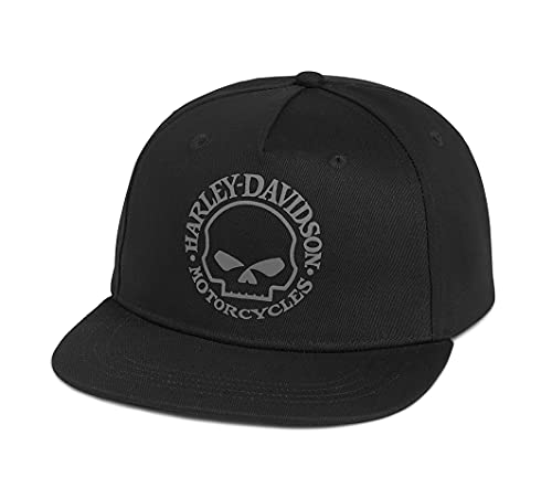 HARLEY-DAVIDSON Willie G Skull Grafik Baseball-Cap Cappy Kappe Mütze Snapback Schwarz