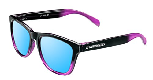 Gafas de sol NORTHWEEK GRADIANT SHINE BLACK & PINK - ICE BLUE POLARIZADA - UNISEX (Negra y rosa)