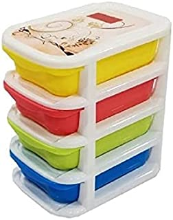 Nabhya Plastic Drawer Medium Size Chester Storage Organizer (Size-20 cm,16 cm,30 cm) (4 Tier Drawer)