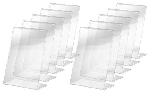 SIGEL TA214 Tischaufsteller schräg, für A6, 10 Stück, glasklar Acryl - weitere Größen