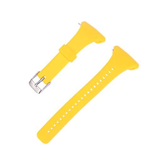 NICERIO Correa de Reloj Compatible con Polar FT4 / FT7, Correa de Repuesto de Correa de Reloj de plástico con Correa de muñeca de liberación rápida para Hombres y Mujeres (Amarillo)