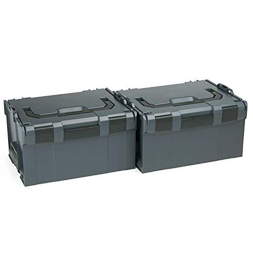 Werkzeugkoffer leer | 2x Bosch Sortimo L BOX 238 | Sortimentskasten Kunststoff Gross | Werkzeugkiste Werkzeugbox | Idealer Sortimentskoffer groß