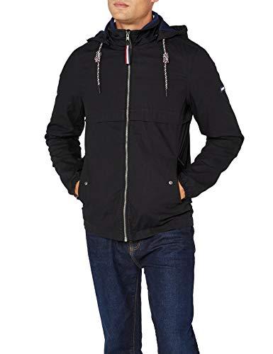 Tommy Jeans Herren Essential Anorak Jacke Jacke Schwarz (Tommy Black 078) Small