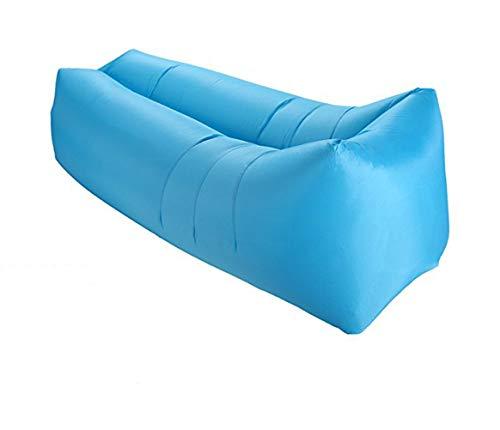 Portable aufblasbare Sofa Transportabler Air Lounger mit Geeignet für Zuhause, Party, Gras, Strand, Camping Blau