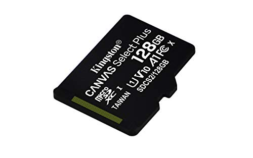 Kingston Canvas Select Plus SDCS2/128GBSP Scheda microSD Classe 10, senza Adattatore SD, 128 GB