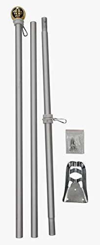 FlagsImp 6 Foot Aluminum Silver Pole with (Ball)