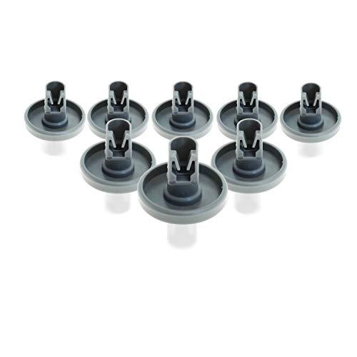 Spülmaschine Unterkorbrollen (Geschirrspülmaschine) | Inhalt: 8 Stück | 40 mm Durchmesser | geeignet für Bosch, Siemens, AEG Favorit, Privileg, Zanussi, UVM. | von CleanMonster