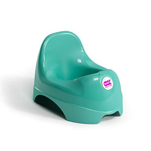 OKBABY Relax - Vasino per Bambini con Seduta Ergonomica e Schienale Rialzato - Turchese