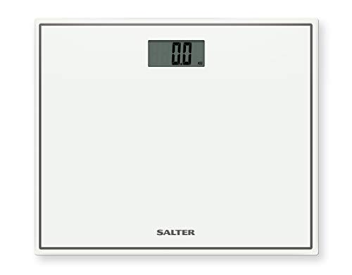 Salter Compact Digital Bathroom Scales - Toughened Glass, Measure Body...
