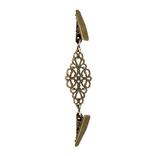 WSNBB Brosche Gold-Silber-Farben-Ente Clips Flexible wulstigen Perlen-Brosche Schal Hemd Sweater Cardigan Kragen Clip Schnallen Bekleidung,Antike Bronze überzogen