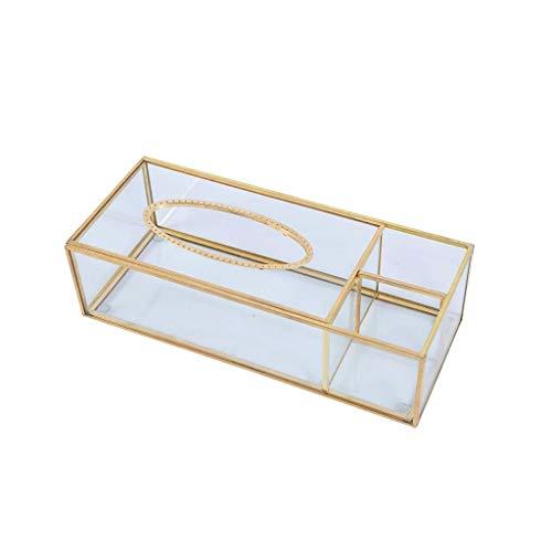 KDEKIFN Organizador cosmético Caja del Tejido, Cubierta de Oficina Organizador Oro de la Belleza Escritorio Caja de Almacenamiento, Lápiz de Control Remoto multifunción Tabla Caja de Almacenamiento