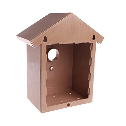 SCDCWW Bird House Swallow Nest Decoración del hogar Cría al Aire Libre Cockatiel Box Top Crafts