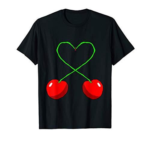 Süße Kirschen Herz Cherry Kirsche Frucht Obst Früchte T-Shirt