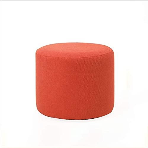 JYHJ Taburete tapizado para puf o reposapiés otomano, antidesgaste, asiento acolchado, moderno reposapiés para decoración de dormitorio, sala de estar (color natural) (color: rojo)