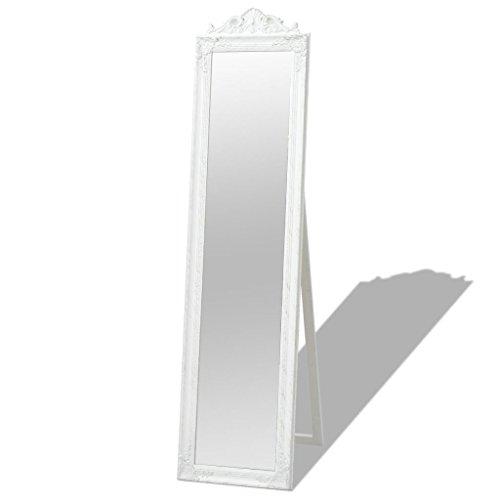 Nyyi Standspiegel im Barock-Stil 160x40 cm Weiß