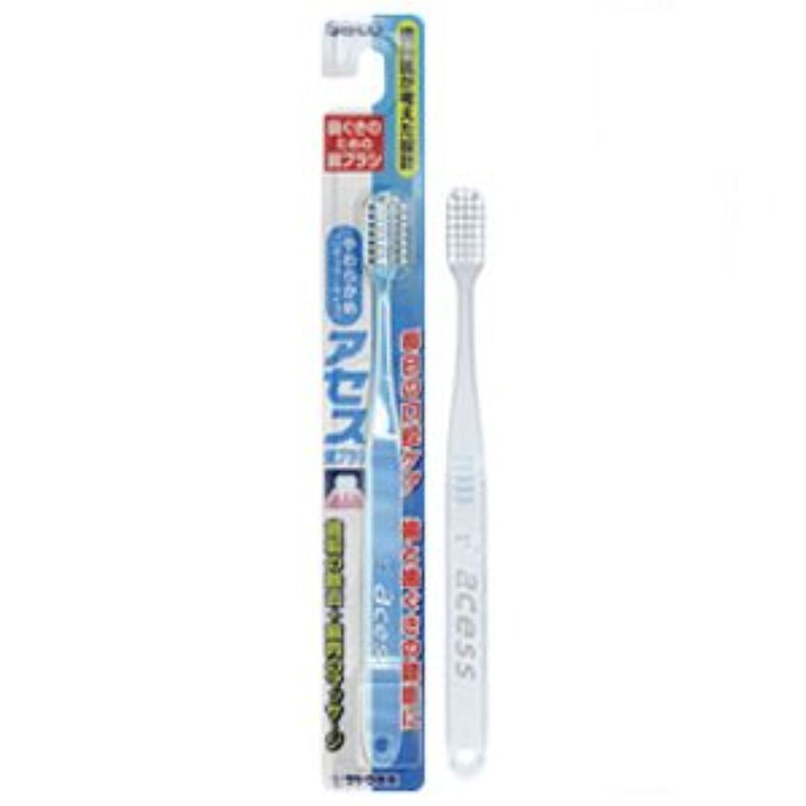 不条理唇シェードアセス歯ブラシ やわらかめ(レギュラータイプ) クリア 12本