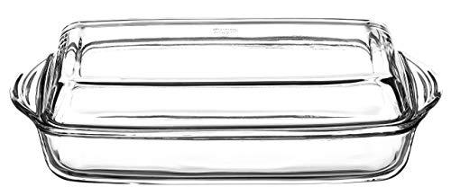 Borcam Pirofila in vetro borosilicat con coperchio, 2 l, in vetro