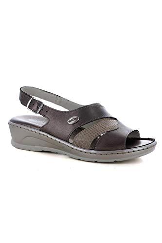 Florance 22635 Sandalo Donna ZEPPETTA Imbottito Tortora Perla 40