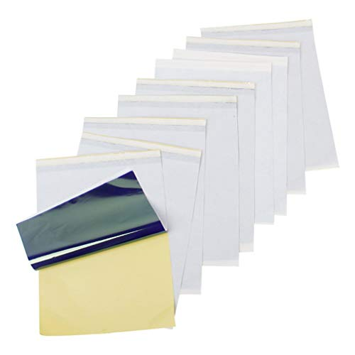 VOSAREA 10 Blatt Carbon Tattoo Papier Profi A4 Kohlepapier Matritzenpapier Pauspapier Transferpapier Schablone Selberdrucken