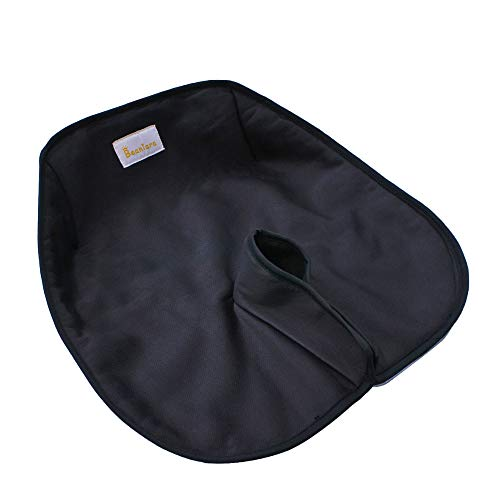 Child Car Seat Protector, Crash and Flammability Tested, Waterproof Anti Slip Piddle Pad for Infant Child Carseat, Booster, Stroller, Dining Chair (Black)