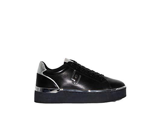Scarpe Sneakers Donna Liu Jo Milano Silvia 01 Alt Black Pelle Nero