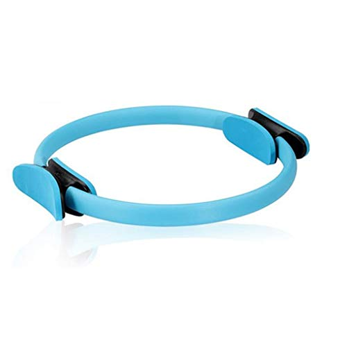 GJHBFUK Pilates Ring Yoga Pilates Ring mit doppeltem Griff Pilates Dual-Grip Magie Übung Kreis Beckenbodentrainer Ring Toning Thighs for Toning und Stärkung Pilates Circle (Color : Blue)
