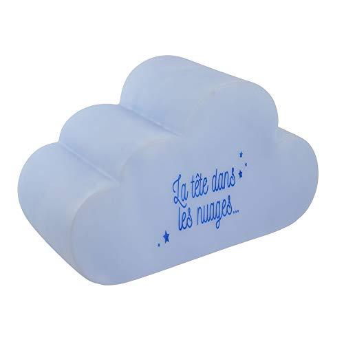 Hello KIDS LA11027 Lampe veilleuse LED Enfant Nuage La tête dans les nuages Bleu PVC H15 x 12,5 x 25,5 cm