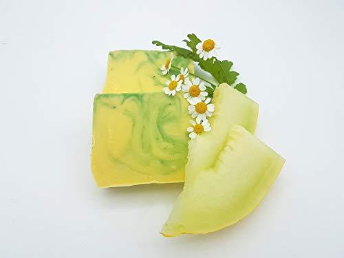 Melonenseife, Duschseife, vegan, ohne Palmöl, handgemachte Naturseife von kleine Auszeit Manufaktur
