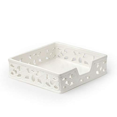 Portatovaglioli Ceramica Traforata 20X20X6Cm