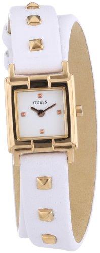Guess Wrap 'N Roll W85123L2 - Reloj analógico de Cuarzo para Mujer, Correa de Cuero Color Blanco
