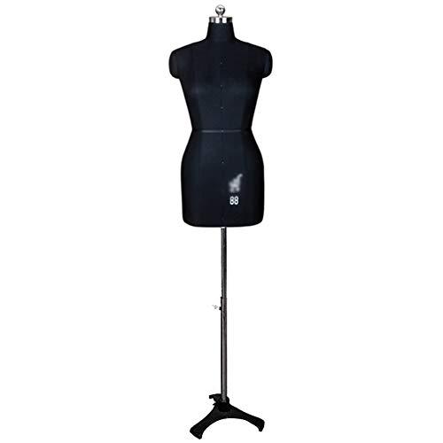 LXFA Maniqui Costura Modista Busto Forma de Vestido de Torso de maniquí Femenino con Soporte de trípode Negro, Perchero de maniquí de Mujer Independiente para Armario de Dormitorio