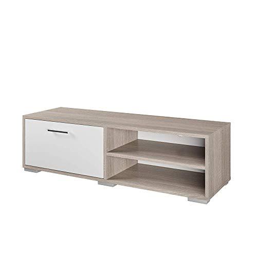 Vicco Lowboard Kamilla Weiß Sonoma - Fernsehschrank Sideboard Regal Fernsehtisch