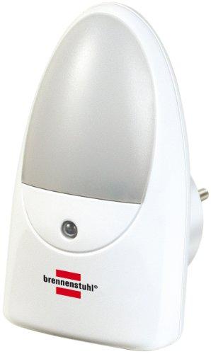 Brennenstuhl LED-Orientierungslicht / Nachtlicht mit Dämmungssensor für die Steckdose (sanftes und unaufdringliches Licht, mit 2 LEDs) weiß