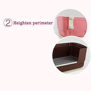 N / A Lapin Litière Pet Formation Toilette Haute Clôture Anti-éclaboussures Pot pour Petits Animaux(Color:Rose)