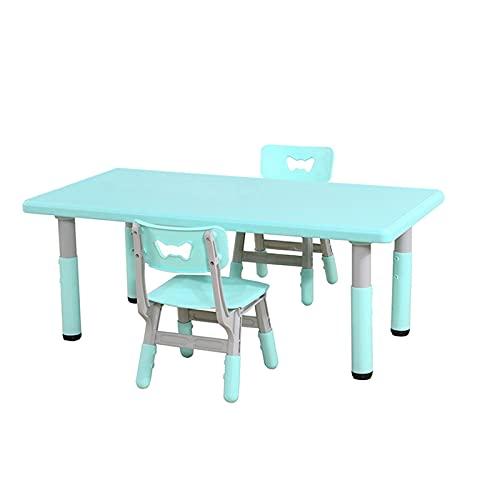 Mesa y S illa para Niños Juego de Mesa y Silla de Kindergarten, mesas y sillas para niños se Pueden elevar y Bajar, adecuados para Pintar, Comer, Mesa de Estudio de Actividad