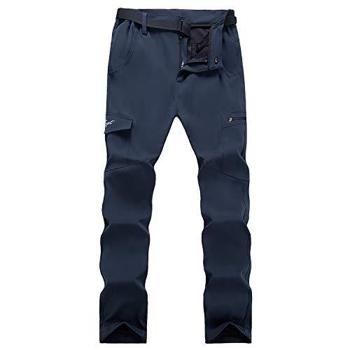 SUKUTU Pantalon de randonnée à séchage Rapide pour Femmes Pantalon d escalade de Marche résistant à l eau en Plein air Pantalon Extensible léger