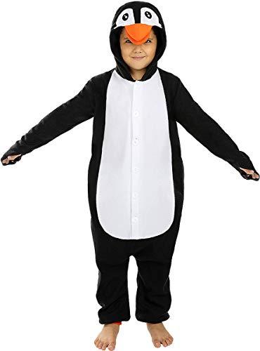 Funidelia | Disfraz de pingüino Onesie para niño y niña Talla 10-12 años ▶ Animales, Polo Sur - Multicolor