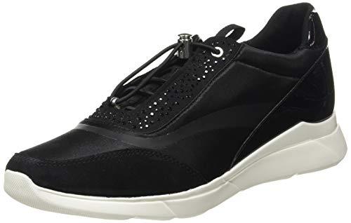 Geox D Hiver D, Zapatillas Mujer, Negro, 36 EU