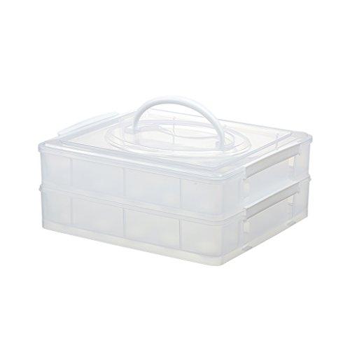 Addis empilable Space Saver Réfrigérateur Armoire Bouteille 2 L étagère de rangement boîte plateau